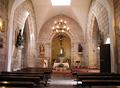 Interior igrexa de San Pedro de Crecente