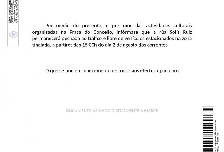 BANDO CORTE CALLE SOLÍS RUÍZ 02/08/2020